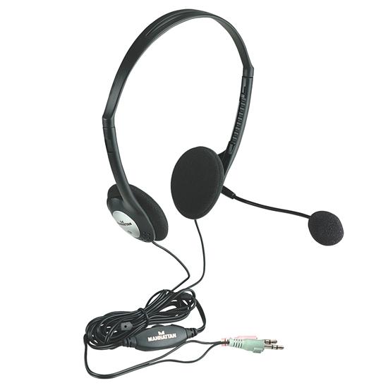 AUDIFONO C/MICROFONO ESTANDAR PLASTICO
