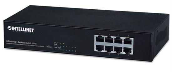 PoE Switch  8 ptos, 4 PoE 30W/pto + 4  std