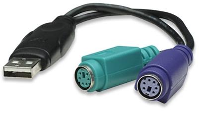Convertidor USB a PS/2 (2 Puertos)