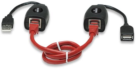 Cable USB Extension Activa 60M, via RJ45