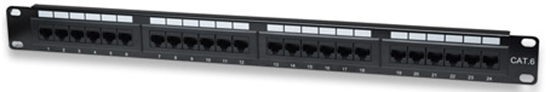 PANEL PARCHEO CAT 6, 24 PTOS 1 NIV. RACK