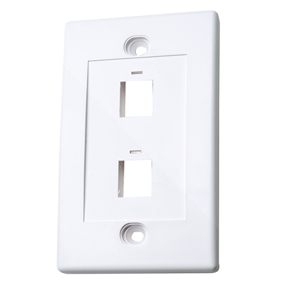 TAPA (FACEPLATE) 2 PERFORACION BLANCO