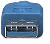 Cable USB V3.0 A-Micro B 2.0M Azul