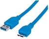 Cable USB V3.0 A-Micro B 1.0M Azul BL