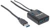 HUB USB V3.0  4 Ptos CON fuente, Negro