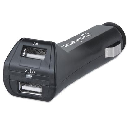 Cargador USB p/Auto 2 puertos 2.1A Total