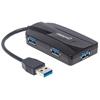 HUB USB V3.0  3 Ptos + Lector SD/Micro SD