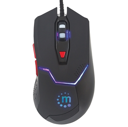 Mouse Optico Gaming USB 6 botones Negro c/luz