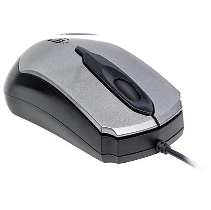"""Mouse Optico """"Edge"""" USB Gris/Negro"""