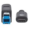 Cable USB-C V3.1, C-B 1.0M Negro