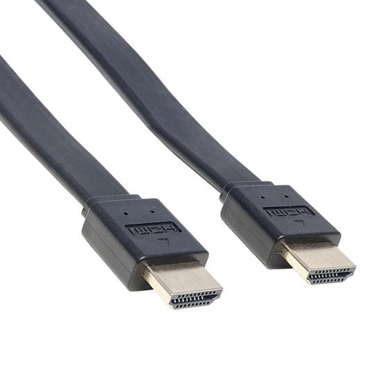 Cable HDMI 2.0 plano M-M  0.5M  BL