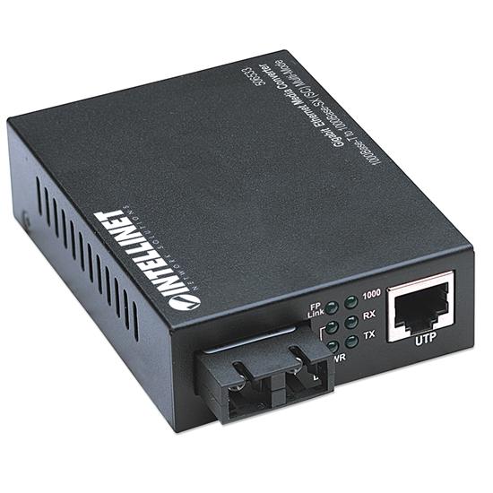 Convertidor Medios GB a Fibra SC, 550m