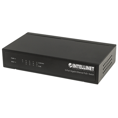 PoE Switch GB  5 ptos 30W/pto, 60W