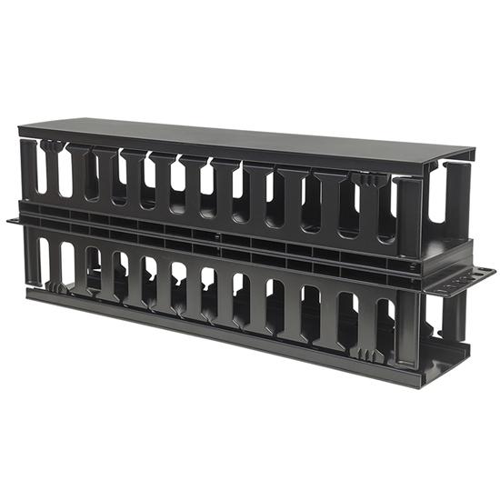 """Organizador Horizontal Doble 19"""" 2U Plastico 17cm"""
