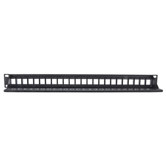 PANEL PARCHEO SIN JACKS, 24 PTOS 1U P/JACK KEYSTONE