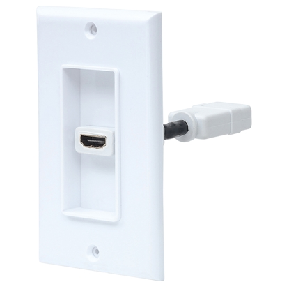 Cople HDMI Blanco con Faceplate 1 Puerto