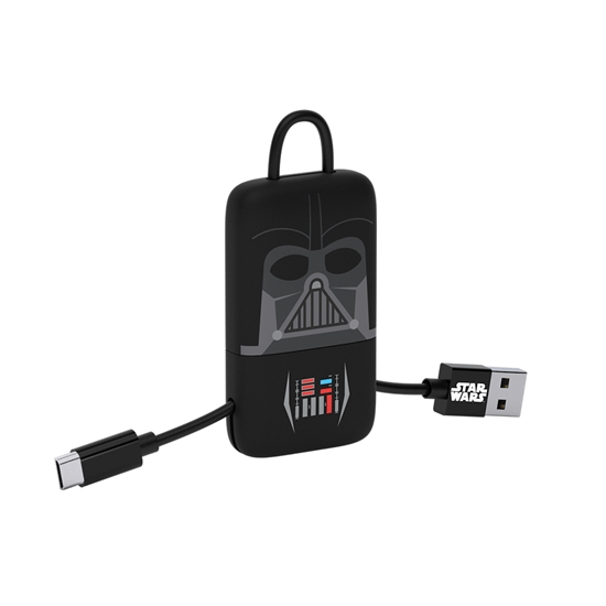 Cable USB V2 A-Micro B, Blíster 22CM SW Darth Vader +  Llavero