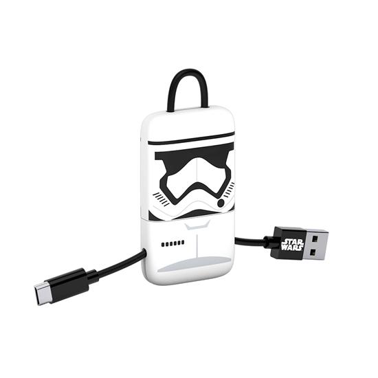 Cable USB V2 A-Micro B, Blíster 22CM SW Storm +  Llavero