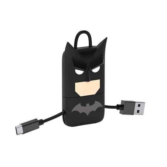 Cable USB V2 A-Micro B, Blíster 22CM DC Batman +  Llavero
