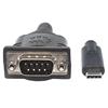 Cable USB-C V3.1, C-Serial M 0.45M Negro