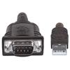 Convertidor USB a Serial DB9M 1.8m chip PL-2303RA