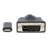 Cable USB-C V3.1, C-DVI M 2.0M Negro