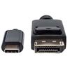 Cable USB-C V3.1, C-DisplayPort M 1.0M 4K, Negro