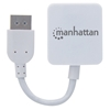 Convertidor Video HDMI H a DisplayPort M 4K, con cable, blanco