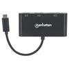 Convertidor Video USB-C a HDMI/DP/SVGA, MST (HDMI Y DP 4K)