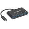 HUB USB-C 4 Ptos Negro