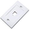 TAPA (FACEPLATE) 1 PERFORACION BLANCO