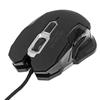 Mouse Optico Gaming USB Negro c/luz