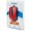 "Mouse Optico ""Edge"" USB Rojo/Negro"