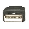Cable USB V2.0 A-a  1.8M, Negro