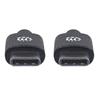 Cable USB-C V2.0, C-C 1.0M Negro 480Mbps