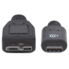 Cable USB-C V3.1, C-Micro B 1.0M Negro