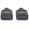 Cable USB-C V3.1, C-C 1.0M Negro
