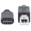 Cable USB-C V2.0, C-B 2.0M Negro 480Mbps