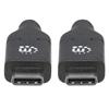 Cable USB-C V2.0, C-C 2.0M Negro 480Mbps 5A