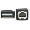 Cable USB V2.0 A-B  0.5M, Negro
