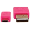 Cable USB V2 A-Micro B, Blister PLANO 1.0M Rosa/Verde
