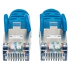 CABLE PATCH CAT 6a,  0.9M( 3.0F) S/FTP AZUL