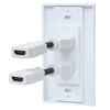 Cople HDMI Blanco con Faceplate 2 Puertos